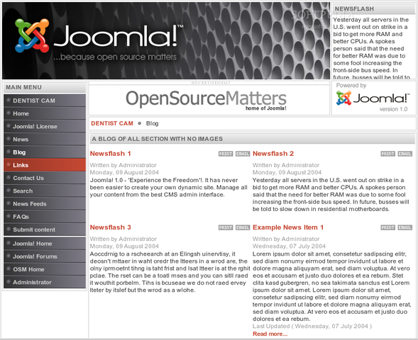 Screenshots #1. BitNami Joomla! Stack / Linux