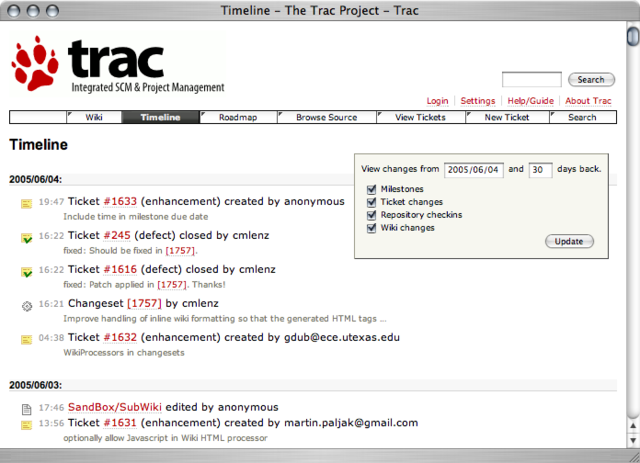BitNami Trac Stack for Mac OS X full screenshot