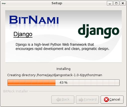 BitNami DjangoStack for Mac OS X full screenshot