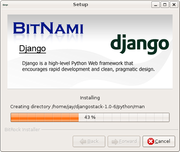 DjangoStack being installed