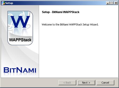 BitNami WAPPStack full screenshot