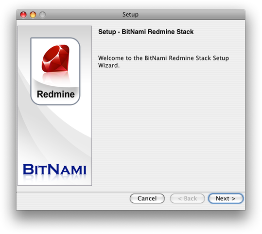 BitNami Redmine Stack for Mac OS X full screenshot