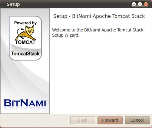 BitNami Tomcat Stack full screenshot