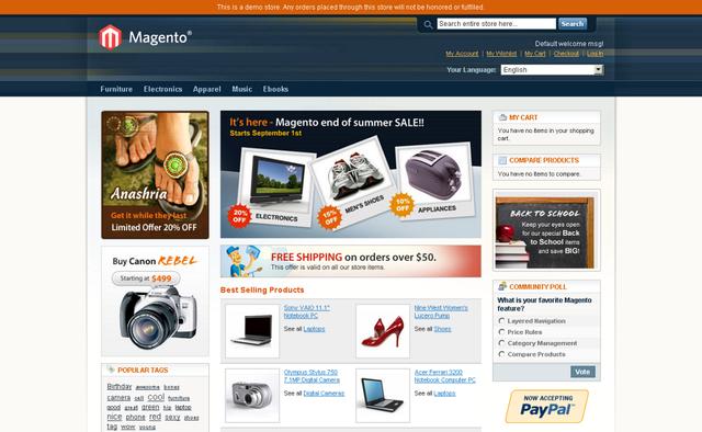 BitNami Magento Stack full screenshot