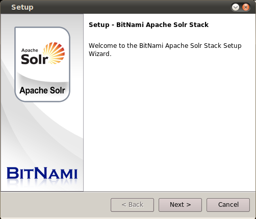 BitNami Apache Solr Stack for Linux full screenshot
