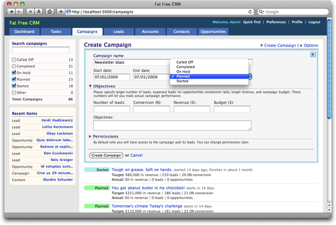 Fat Free CRM - VMware Solution Exchange