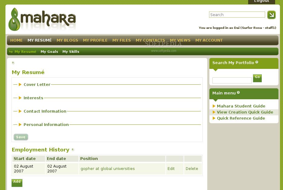 Mahara - VMware Solution Exchange