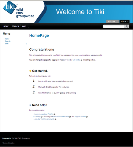 Tiki Wiki CMS Groupware Virtual Appliance - VMware Solution
